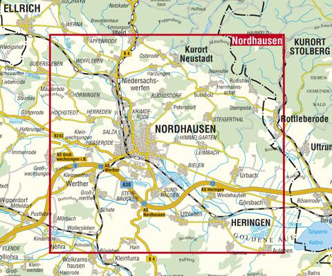 Nordhausen Karte.Kkv Mbh Rad Und Wanderkarten Nordhausen