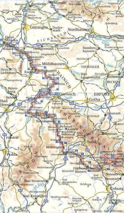 Werratal Radweg Karte.Kkv Mbh Rad Und Wanderkarten Radwanderfuehrer Werratal Radweg