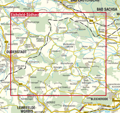 Kkv Mbh Rad Und Wanderkarten Wanderkarte Eichsfeld Sudharz